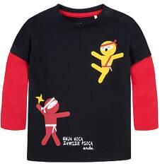 Koszulka z kontrastowymi rękawami dla dziecka 6-36 m N72G033_1