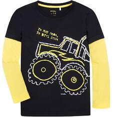 Koszulka z długimi, odcinanymi rękawami dla chłopca 3-8 lat C72G031_1