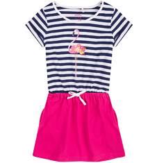 Sukienka z kieszeniami i troczkiem dla dziewczynki 4-8 lat D71H049_1