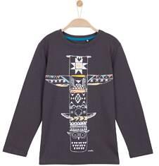 T-shirt z długim rękawem dla chłopca 9-12 lat C62G573_1