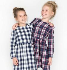 Romantyczna sukienka w kratkę dla dziewczynki 3-8 lat D72H057_1