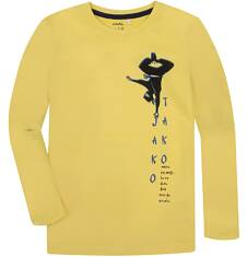 T-shirt z długim rękawem dla chłopca 3-8 lat C72G085_1