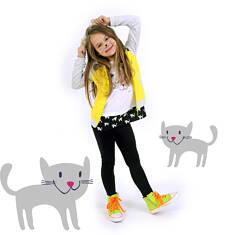 Tunika z krótkim rękawem dla dziewczynki 4-8 lat D71G033_1