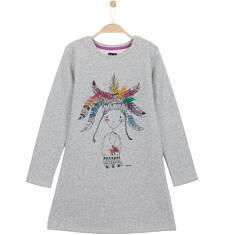 Gruba sukienka delikatnie taliowana dla dziewczynki 3-8 lat D62H022_1