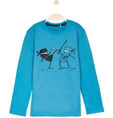 T-shirt z długim rękawem dla chłopca 9-12 lat C62G541_2