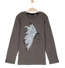 T-shirt z długim rękawem dla chłopca 9-12 lat C62G564_2