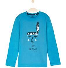 T-shirt z długim rękawem dla chłopca 9-12 lat C62G567_3