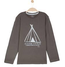 T-shirt z długim rękawem dla chłopca 9-12 lat C62G568_2