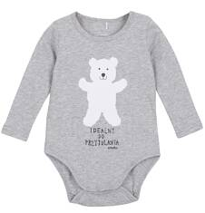 Body z długim rękawem dla niemowlaka N62M003_1