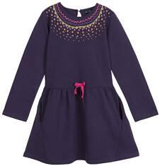 Sukienka z długim rękawem dla dziewczynki 3-8 lat D62H038_1