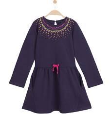 Sukienka z długim rękawem dla dziewczynki 9-12 lat D62H538_1