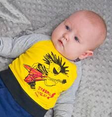 Bluza dresowa przez głowę dla dziecka 0-3 lata N71C017_1