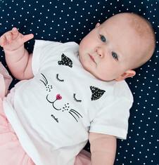 Bluzka z krótkim rękawem dla dziecka 2-3 lata N71G020_1