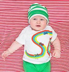 Bluzka z krótkim rękawem dla dziecka 0-3 lata N71G047_1