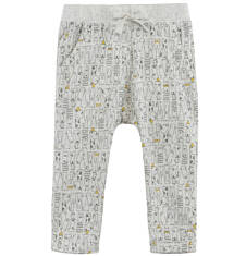 Melanżowe spodnie w deseń dla niemowlaka N61K054_1