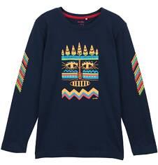 T-shirt z długim rękawem dla chłopca 9-12 lat C62G557_1