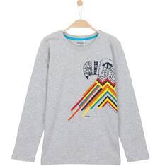 T-shirt z długim rękawem dla chłopca 9-12 lat C62G563_1