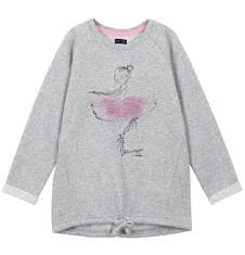 Bluza typu tunika ze srebrną nitką dla dziewczynki 3-8 lat D62C017_1