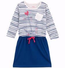 Dwukolorowa sukienka z długim rękawem dla dziewczynki D61H031_1