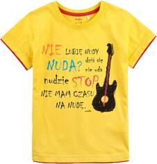 T-shirt z kontrastowym wykończeniem dla chłopca 9-13 lat C71G522_1