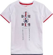 T-shirt z kontrastowym wykończeniem dla chłopca 4-8 lat C71G054_1