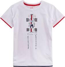 T-shirt z kontrastowym wykończeniem dla chłopca 9-13 lat C71G554_1