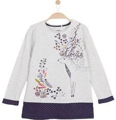 Tunika z długim rękawem dla dziewczynki 3-8 lat D62G054_1