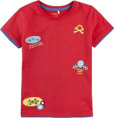 T-shirt z kontrastowym wykończeniem dla chłopca 9-13 lat C71G556_1