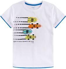 T-shirt z kontrastowym wykończeniem dla chłopca 9-13 lat C71G557_1