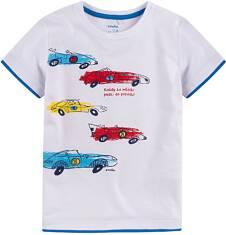 T-shirt z kontrastowym wykończeniem dla chłopca 9-13 lat C71G558_1