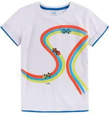 T-shirt z kontrastowym wykończeniem dla chłopca 9-13 lat C71G561_1