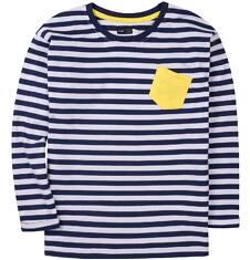 T-shirt z długim, podwiniętym rękawem dla chłopca 9-13 lat C71G670_1