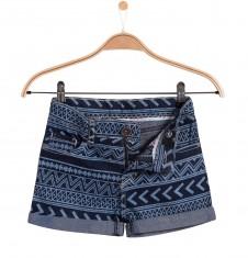 Szorty jeansowe we wzorzysty deseń dla dziewczynki D51K004_1