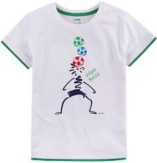 T-shirt z kontrastowym wykończeniem dla chłopca 9-13 lat C71G581_1