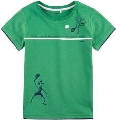T-shirt z kontrastowym wykończeniem dla chłopca 9-13 lat C71G584_1