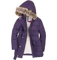 Długa kurtka dla dziewczynki 9-13 lat D72A506_1
