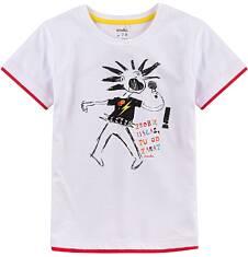 T-shirt z kontrastowym wykończeniem dla chłopca 9-13 lat C71G596_1