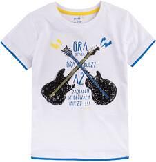 T-shirt z kontrastowym wykończeniem dla chłopca 9-13 lat C71G599_1