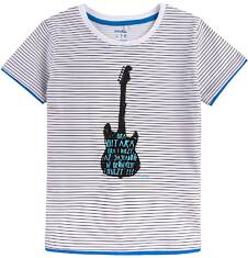 T-shirt z kontrastowym wykończeniem dla chłopca 4-8 lat C71G100_1