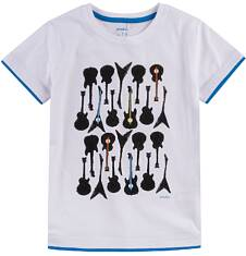 T-shirt z kontrastowym wykończeniem dla chłopca 4-8 lat C71G106_1