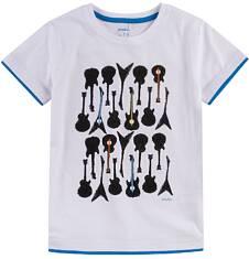 T-shirt z kontrastowym wykończeniem dla chłopca 9-13 lat C71G606_1
