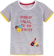 T-shirt z kontrastowym wykończeniem dla chłopca 9-13 lat C71G610_1