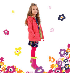 Pikowana kurtka z kapturem dla dziewczynki 4-8 lat D71A002_1