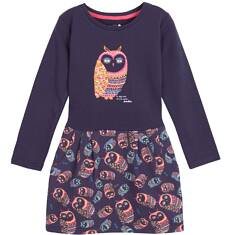 Sukienka z odcinanym dołem i kieszeniami dla dziewczynki 3-8 lat D62H034_1