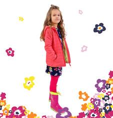 Pikowana kurtka z kapturem dla dziewczynki 9-13 lat D71A502_1