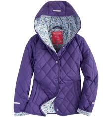 Pikowana kurtka z kapturem dla dziewczynki 9-13 lat D71A504_2