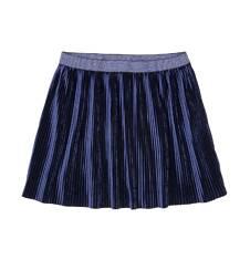 Welurowa spódnica z drobnymi pliskami dla dziewczynki 3-8 lat D72J010_1