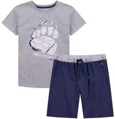 Piżama z krótkimi spodenkami dla chłopca 9-13 lat C71V503_1