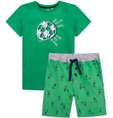 Piżama z krótkimi spodenkami dla chłopca 4-8 lat C71V006_1