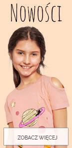 Baner z nowościami dla dużej dziewczynki.